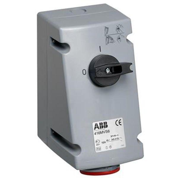 ABB 2CMA167663R1000 Seinäpistorasia IP44, 4P+J, 400 V 16 A