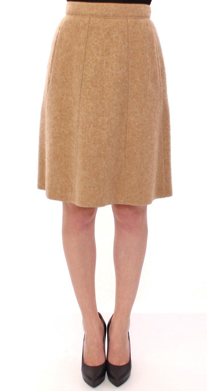 Dolce & Gabbana Women's Alpaca Above Knees Pencil Skirt Beige GSS11715 - IT40|S