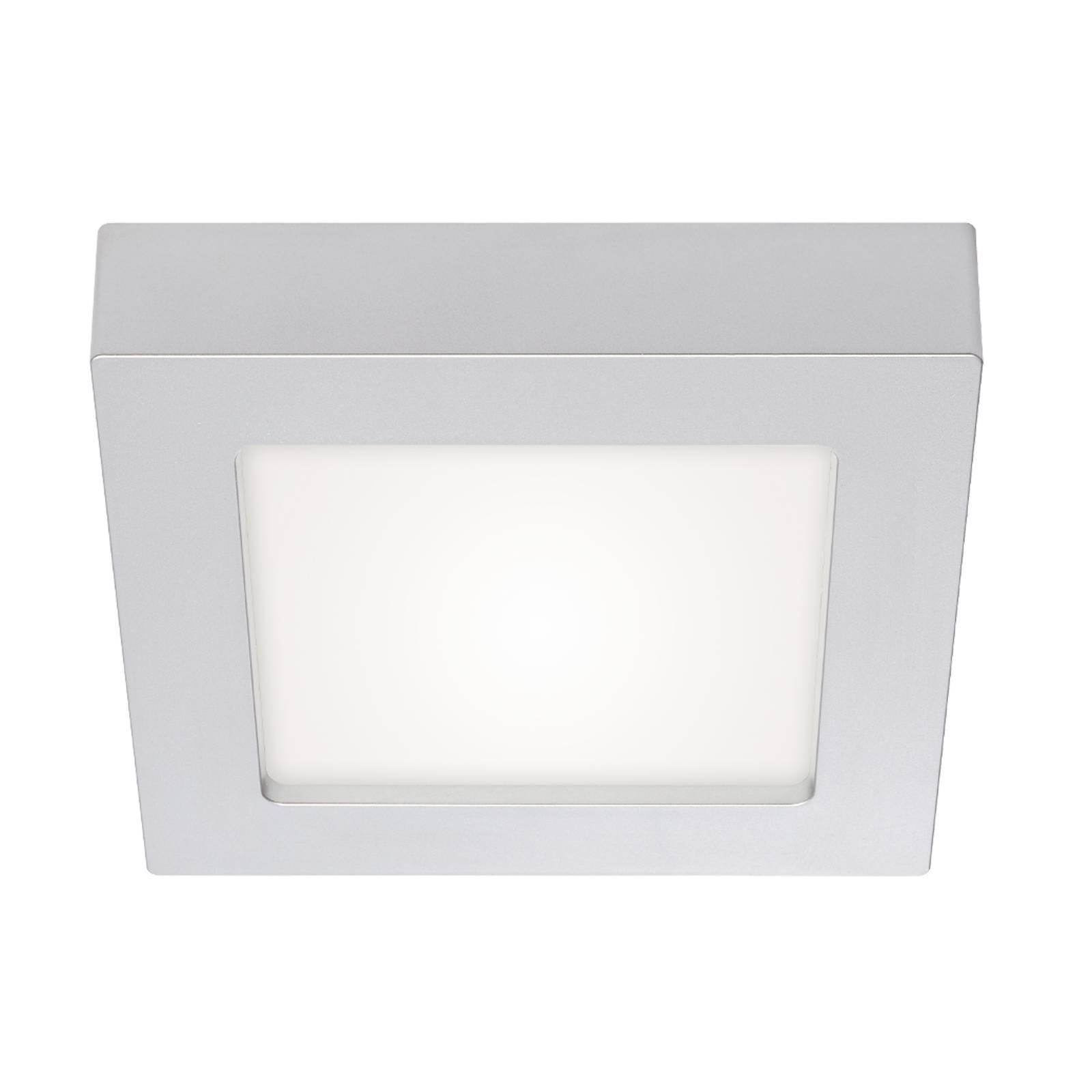 Prios Alette -LED-kattovalaisin hopea, 17,2 cm