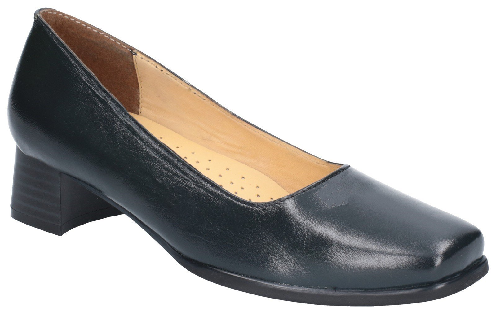 Amblers Women's Walford Ladies Wide Fit Court Shoe Black 15233 - Navy 3