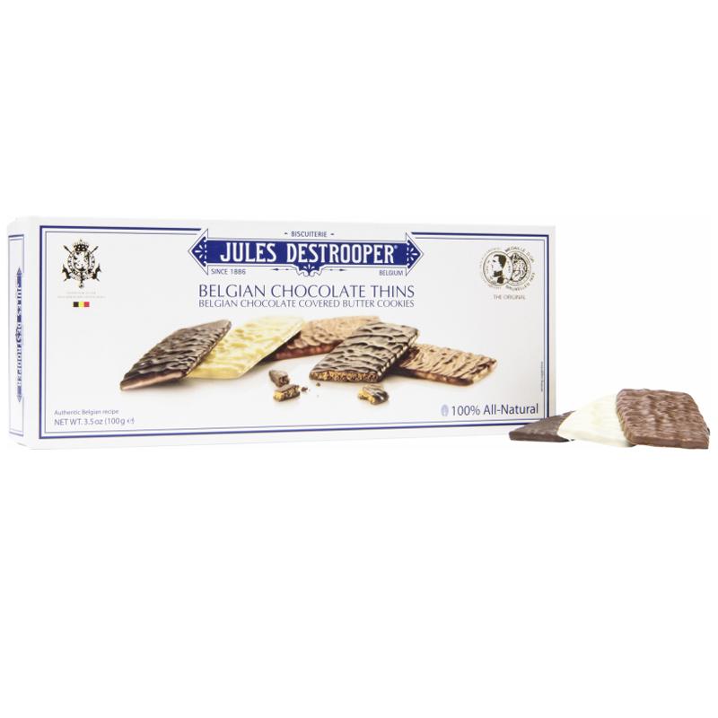 """Kakor """"Belgian Chocolate Thins"""" 100g - 40% rabatt"""