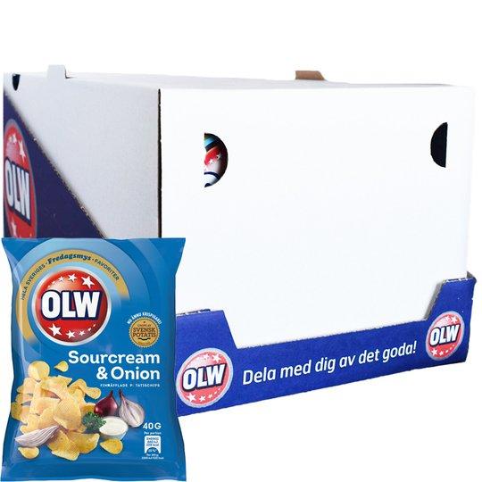 "Hel Låda Chips ""Sourcream & Onion"" 20 x 40g - 28% rabatt"