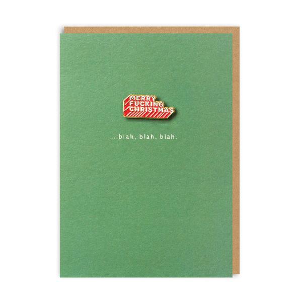 Merry F*cking Christmas Enamel Pin Greeting Card