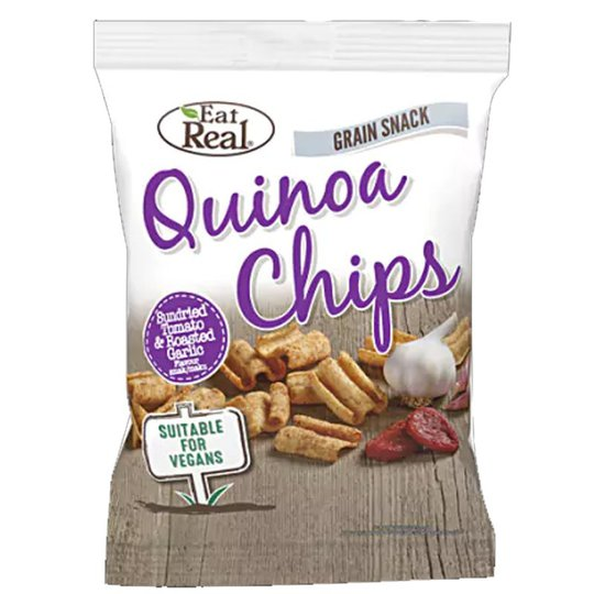 """Quinoachips """"Sundried Tomato & Garlic"""" 30g - 33% rabatt"""