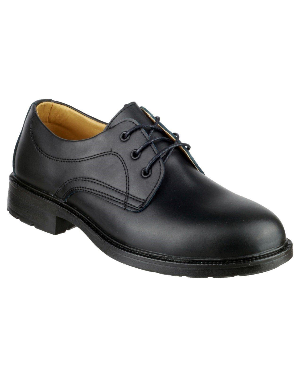 Amblers Men's Newport Derby Shoe Black 20208 - Black 6