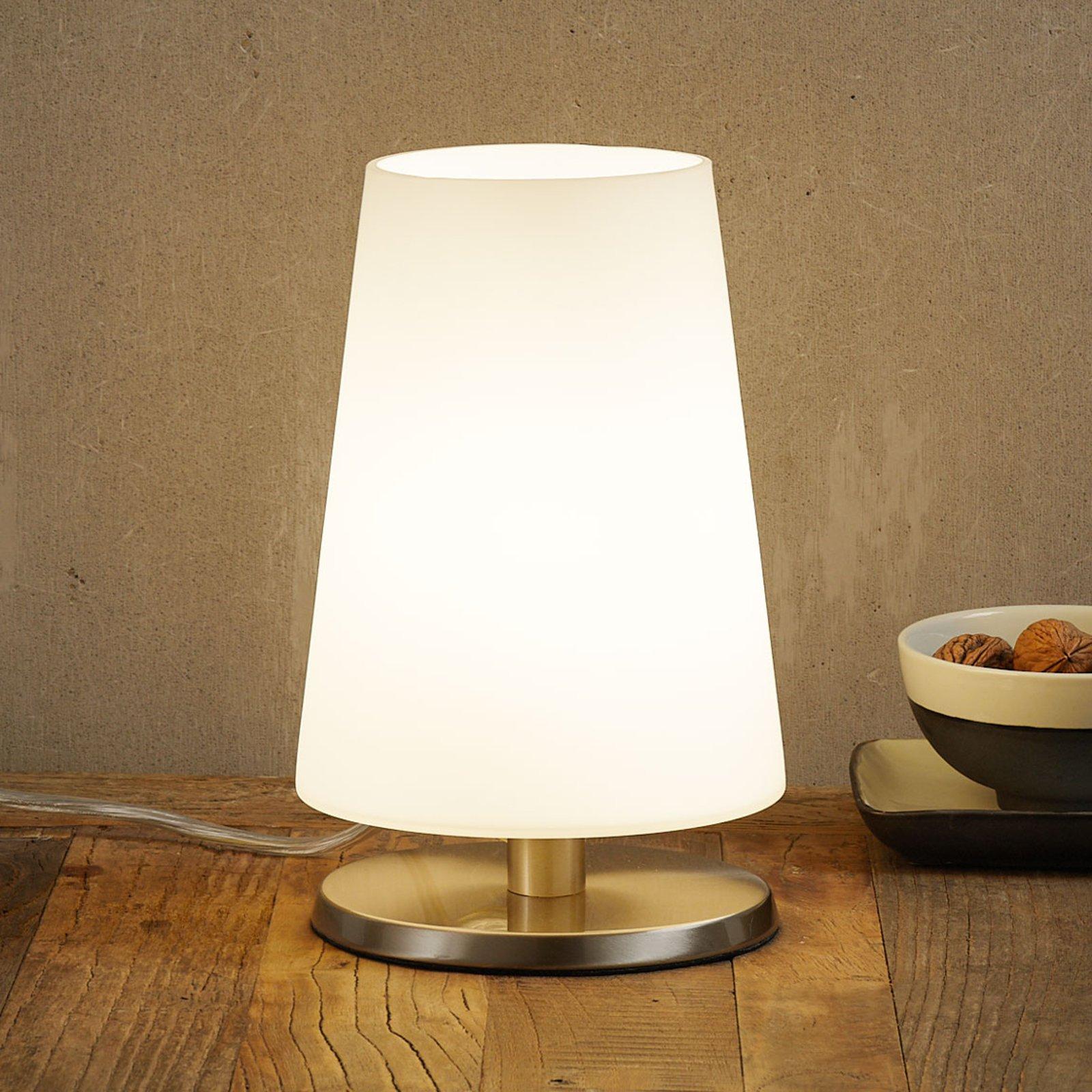 Med touchdimmer - bordlampe Ancilla stål