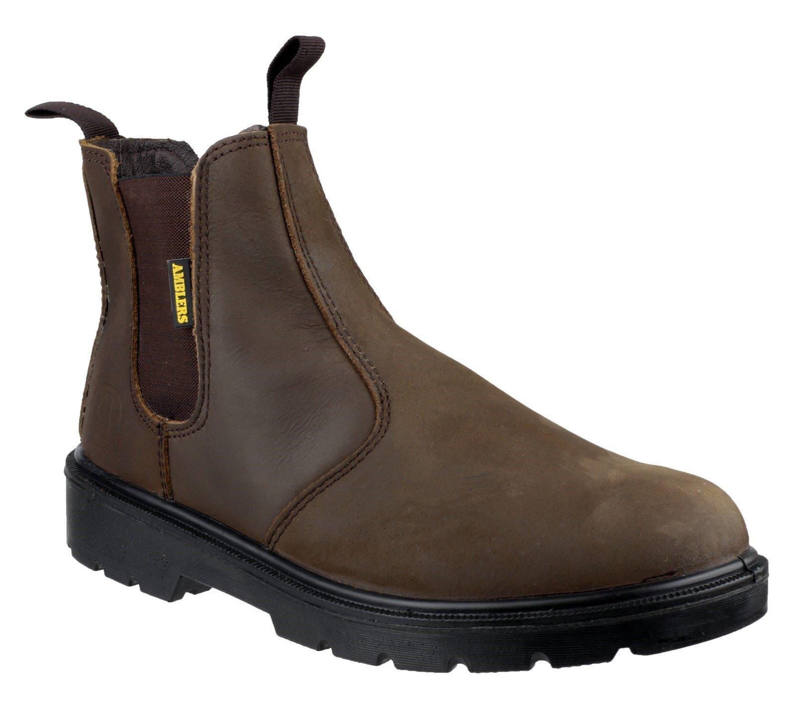 Amblers Unisex Safety Hardwearing Pull On Dealer Boot Brown 15890 - Brown 3