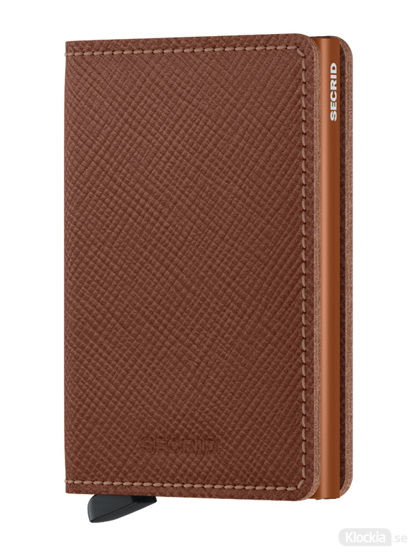 Plånbok SECRID Slimwallet Saffiano Caramel