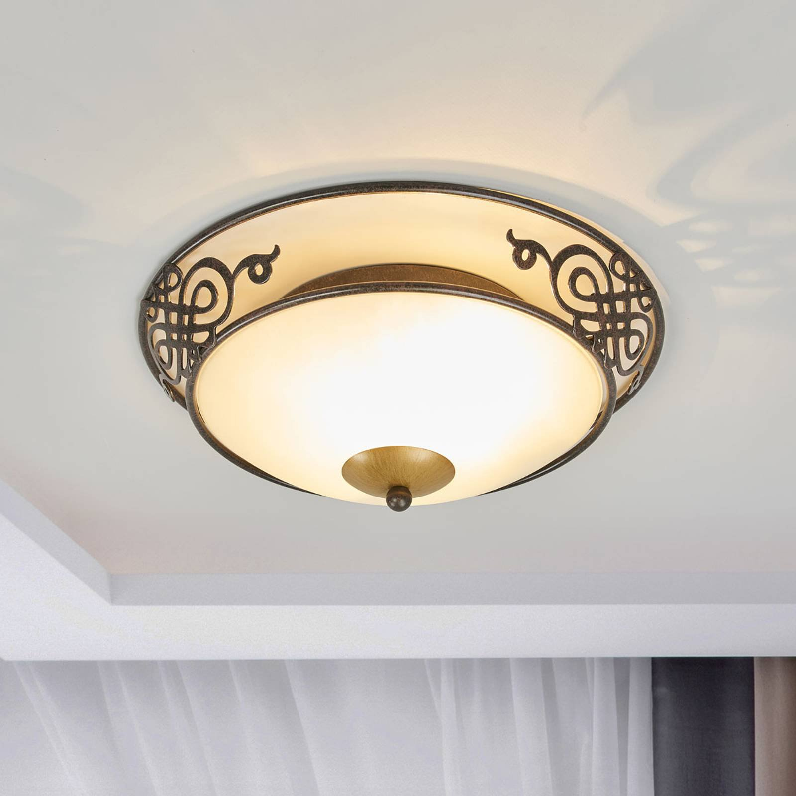 Rustikk Master taklampe på 33 cm