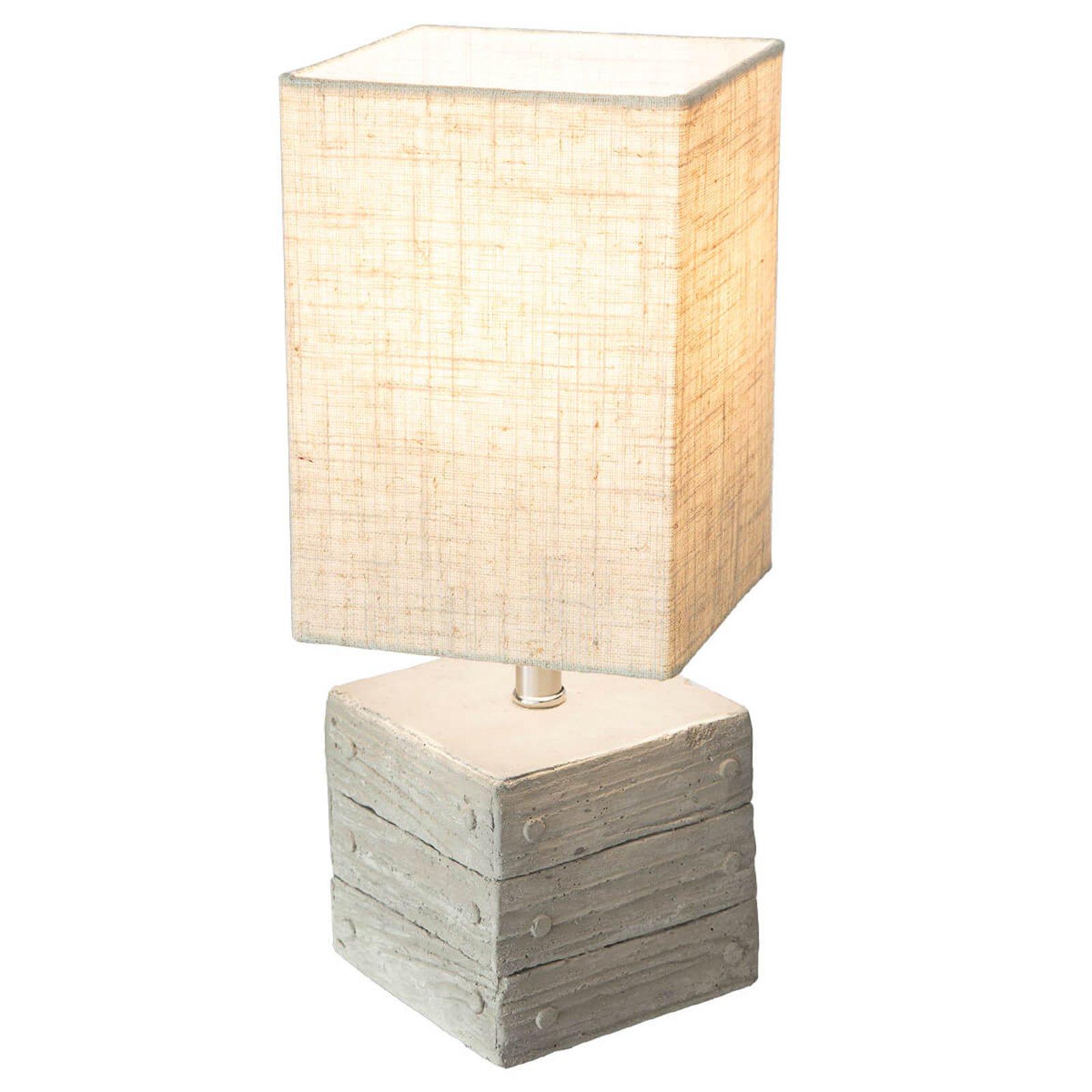 Bordlampe Lisco boksformet betongfot