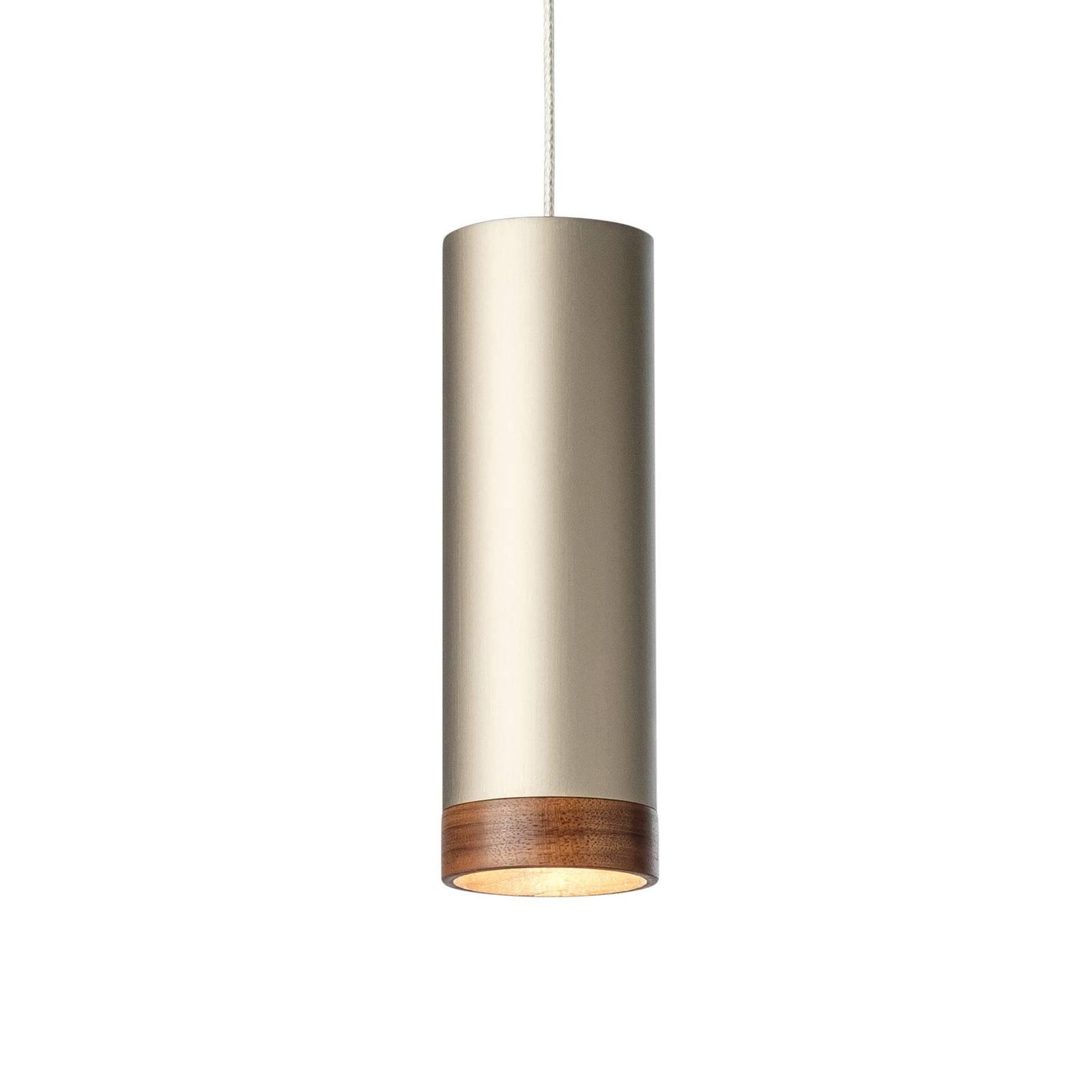 LED-riippuvalaisin PHEB, hopea-pronssi/pähkinäpuu