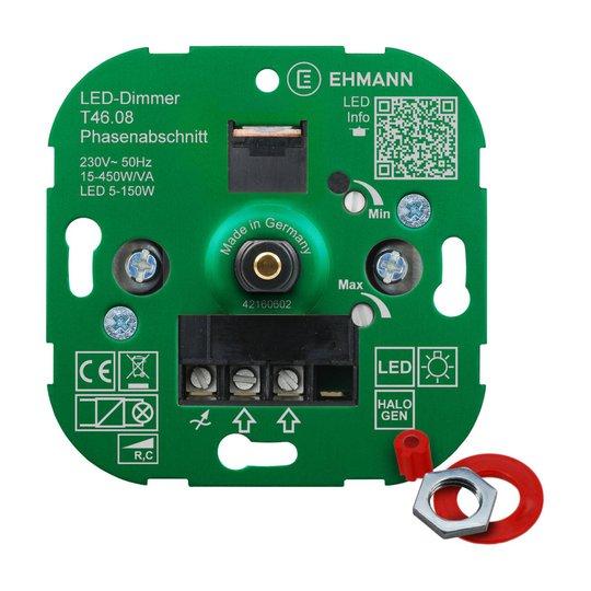 EHMANN T46 LED-dimmer faseavsnitt, 15-450 W