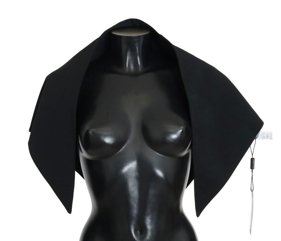 Dolce & Gabbana Women's Wool Triangle Scarf Black MS2085
