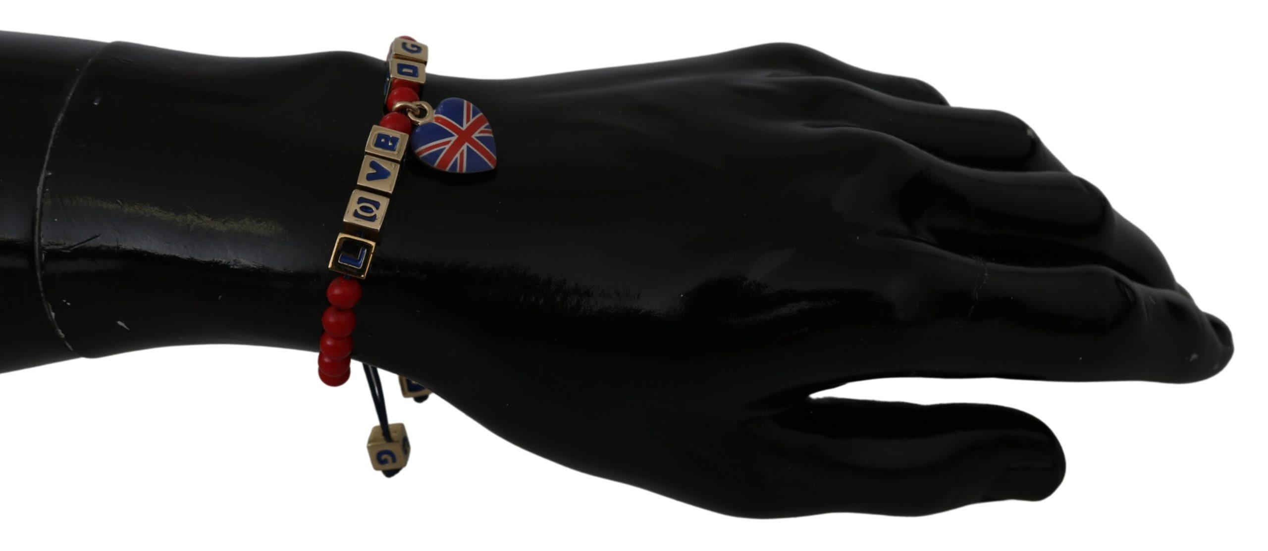 Dolce & Gabbana Women's Beaded Flag Bracelet Red SMY2253