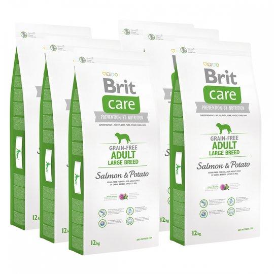 Brit Care Dog Adult Grain Free Large Breed Salmon & Potato 6x12 kg