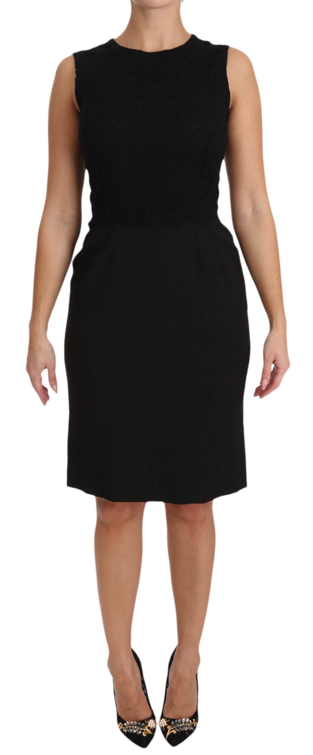 Dolce & Gabbana Women's Stretch Sheath Mini Dress Black DR1600 - IT40|S