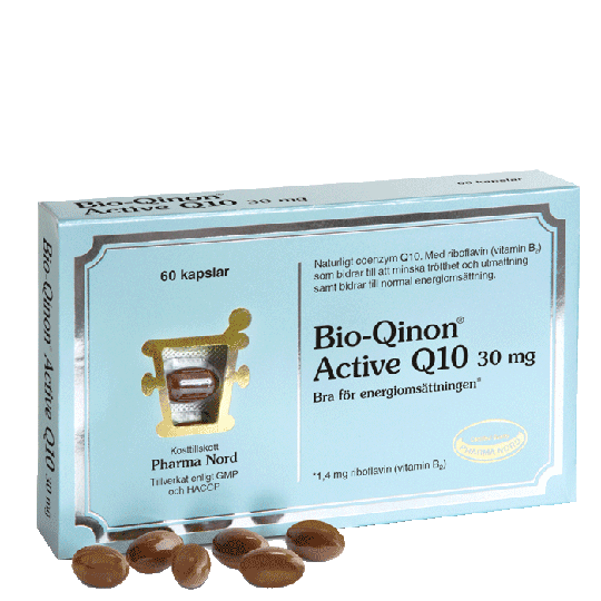 Bio-Qinon Active Q10 30 mg, 60 kapslar