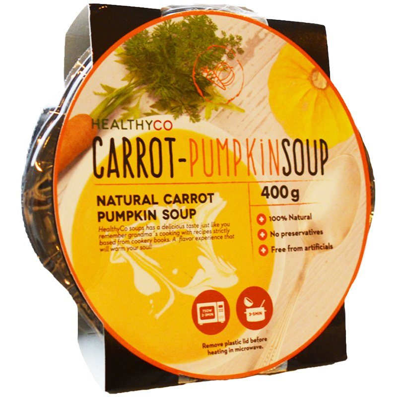 Keitto Porkkana & Kurpitsa 400g - 50% alennus