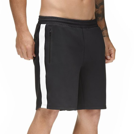 Star Gym Shorts, Black/White