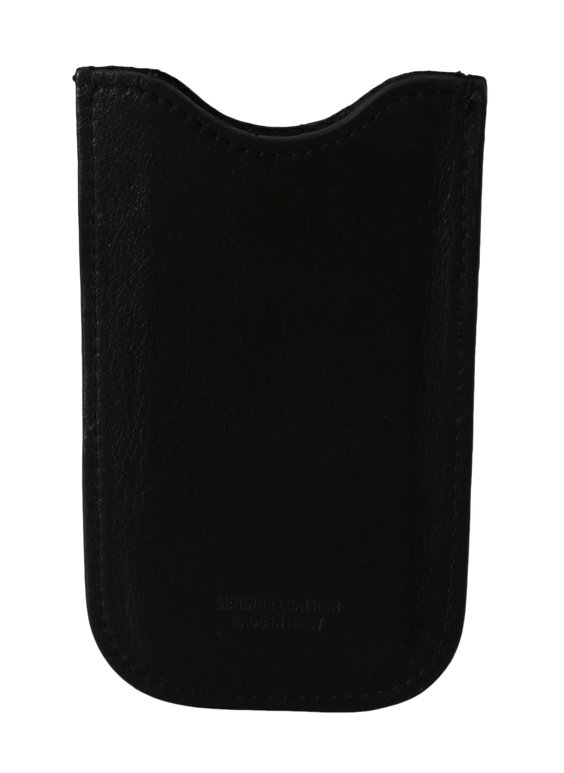 John Galliano Men's Leather Multifunctional Wallet Black VAS8846