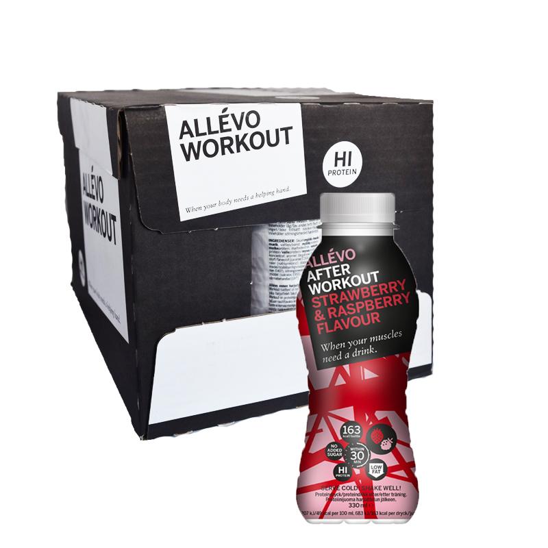 Hel låda Proteindryck Jordgubb & Hallon 12 x 300 ml - 82% rabatt