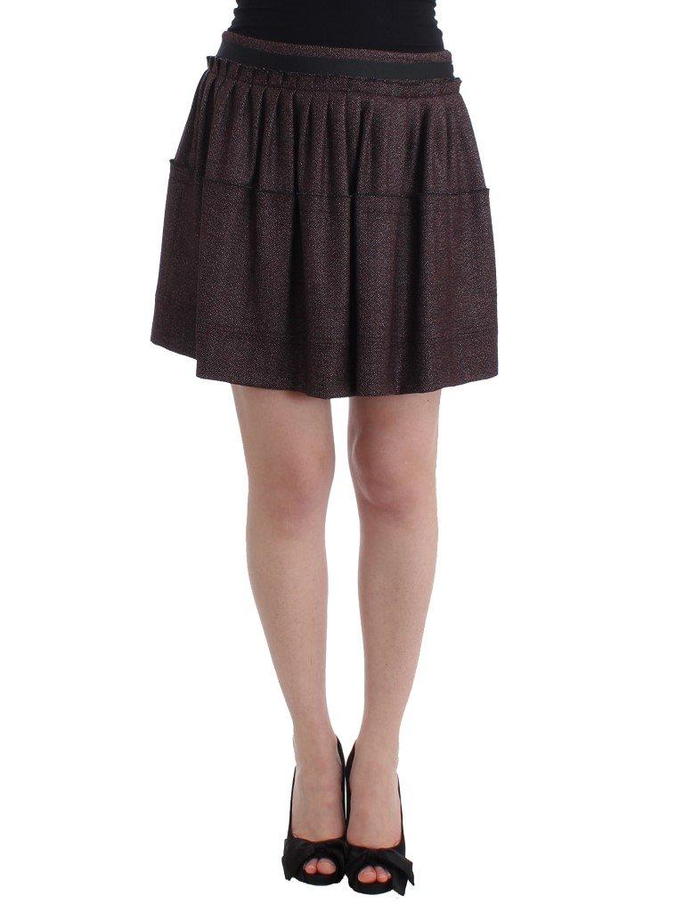 GF Ferre Women's Short Flannel Skirt Purple SIG11527 - IT42|M