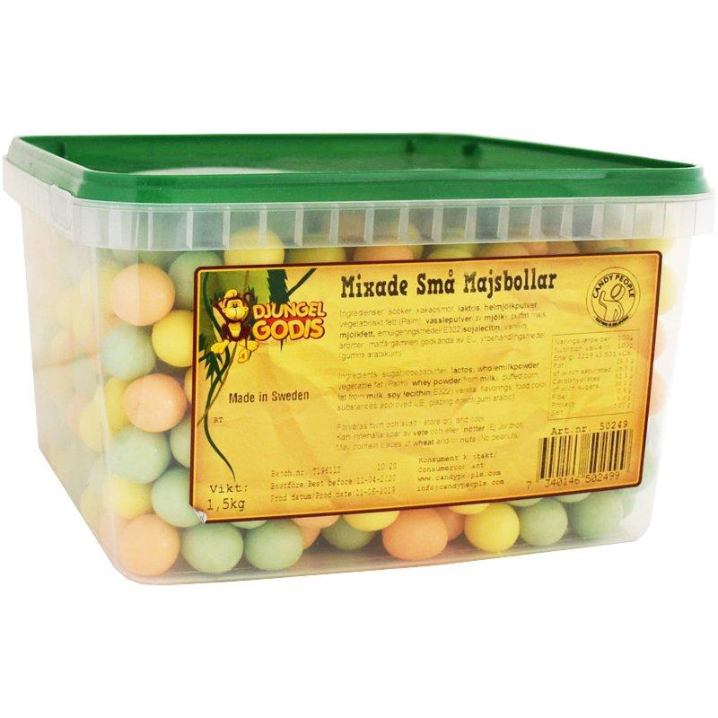 Mixade små majsbollar 1,5 Kg - 53% rabatt