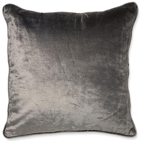 Kuddfodral Velvet/Linen - Titanium
