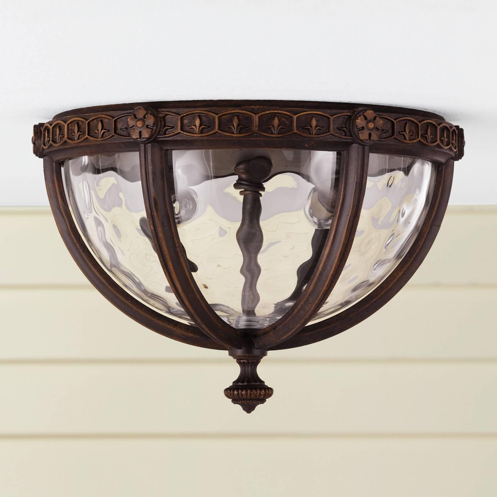 Rustikk REGENT COURT utendørs taklampe