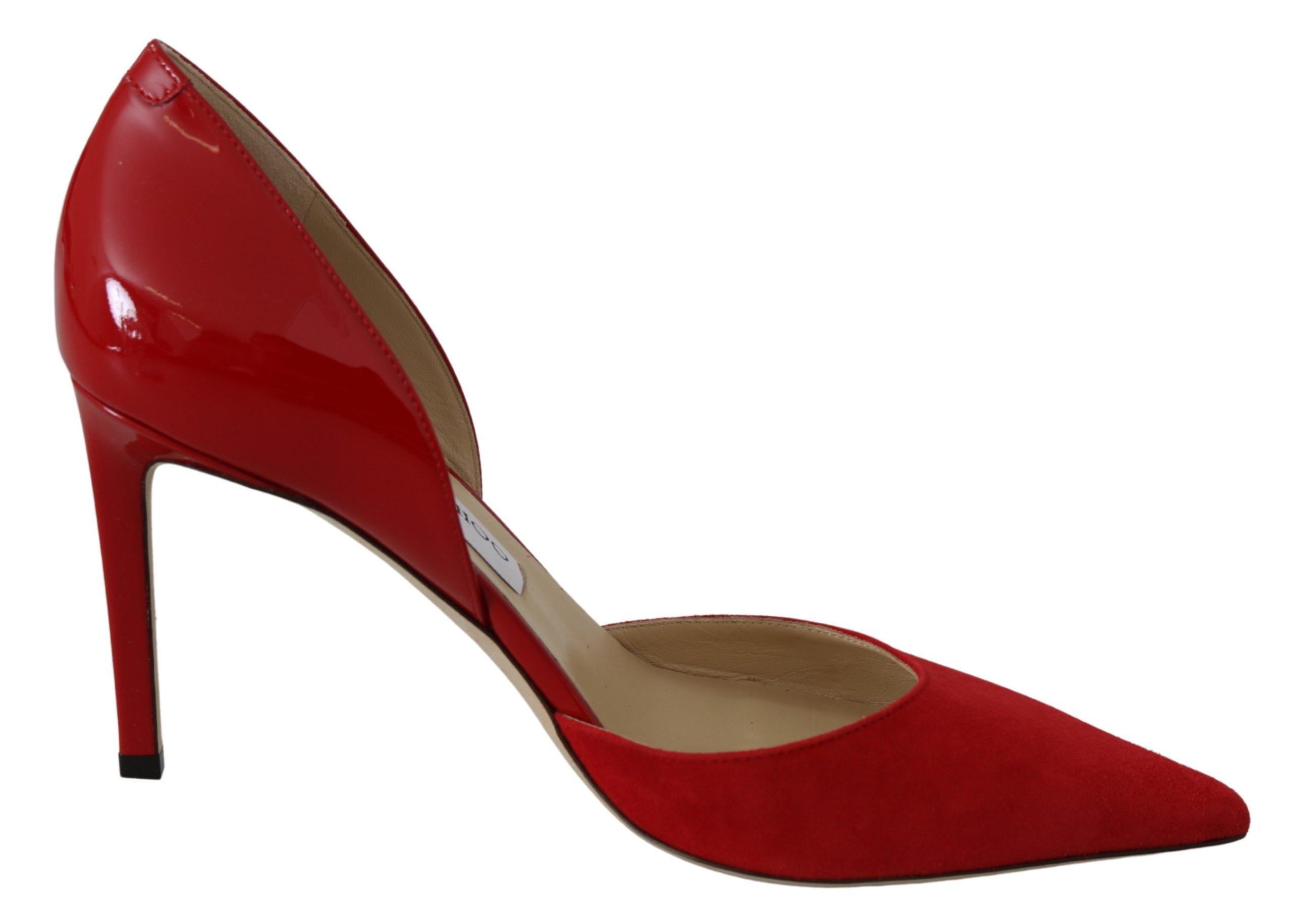 Jimmy Choo Women's Darylin 85 Heels Shoes Red 194611094388 - EU38.5/US8.5