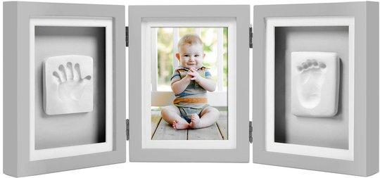 Pearhead Babyprints Deluxe Fotoramme, Grå