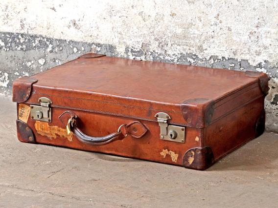 Old Leather Suitcase Small