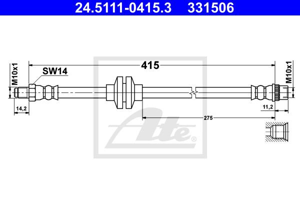 Jarruletku ATE 24.5111-0415.3