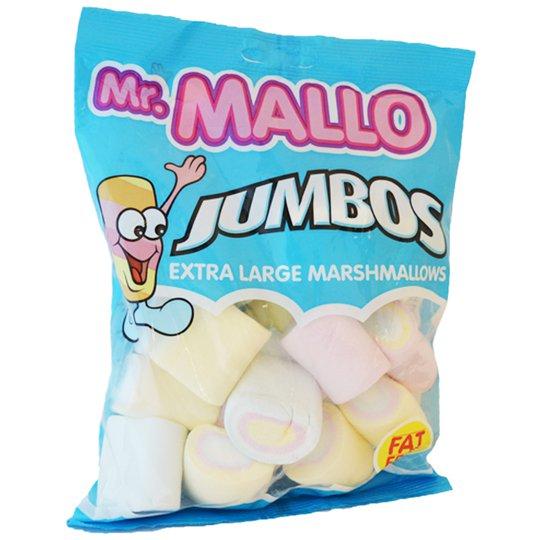 """Marshmallows """"Jumbos Rainbow"""" 250g - 28% rabatt"""