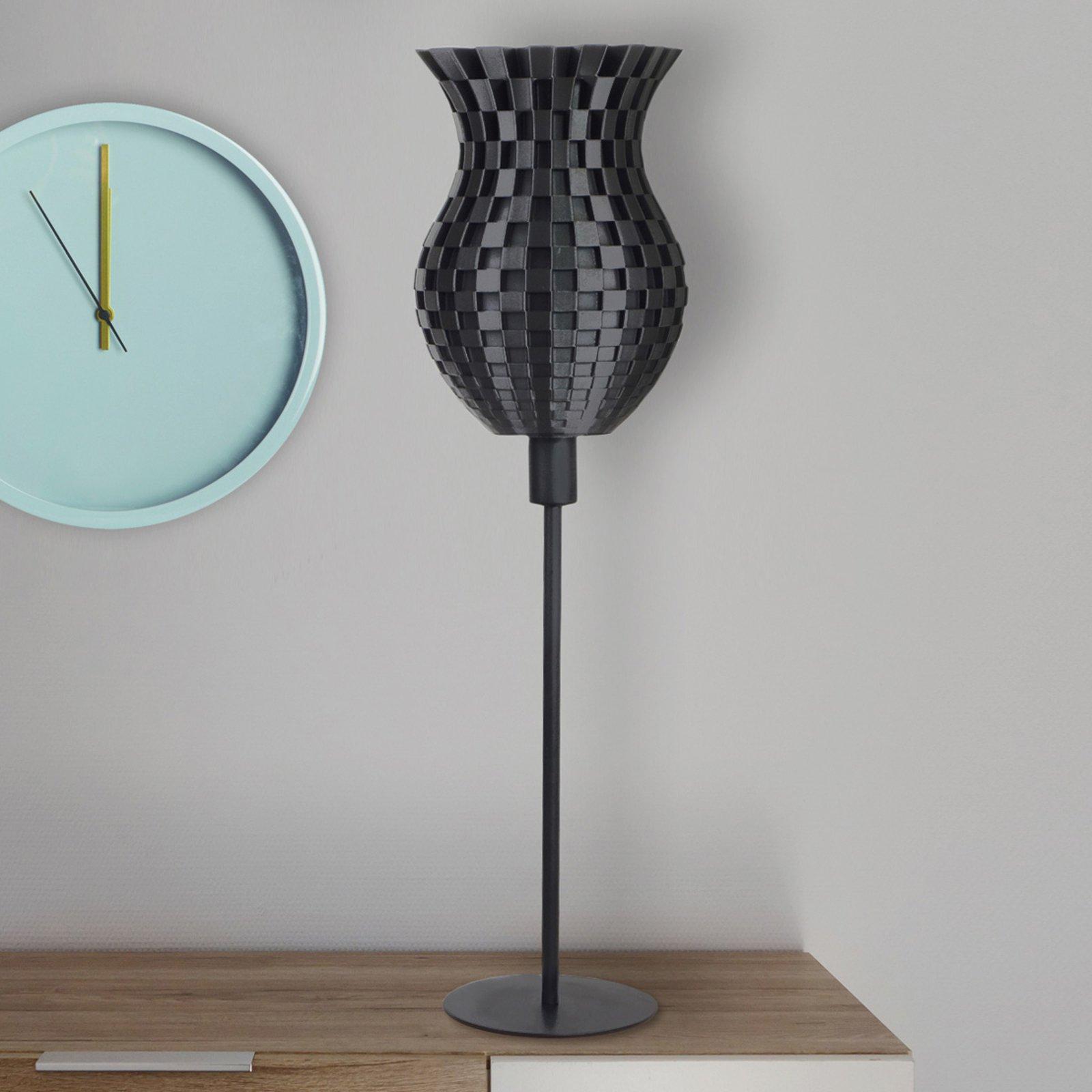 Bordlampe Flechtwerk, 3D-trykk, grafitt