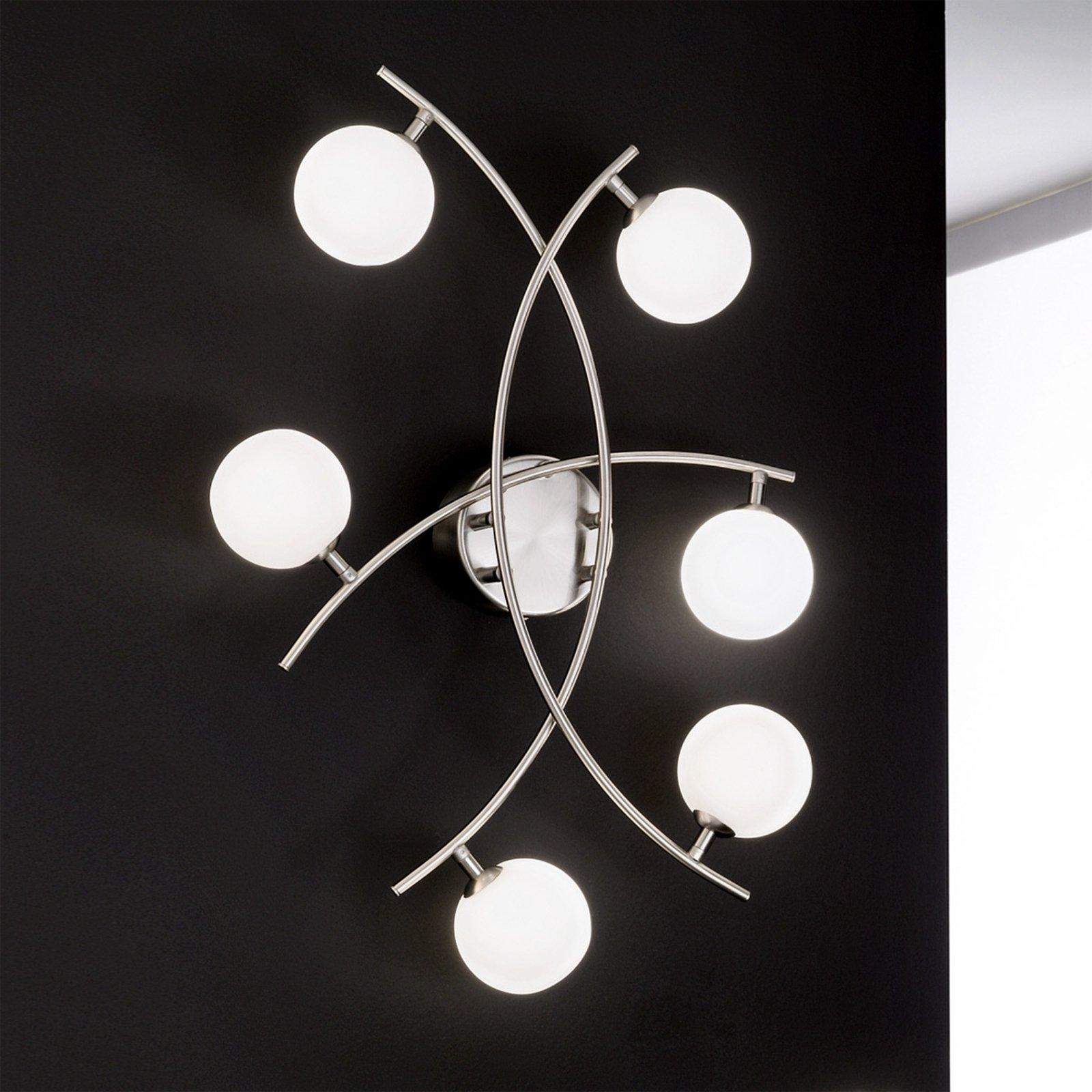 Særegen Pelota taklampe med 6 lys