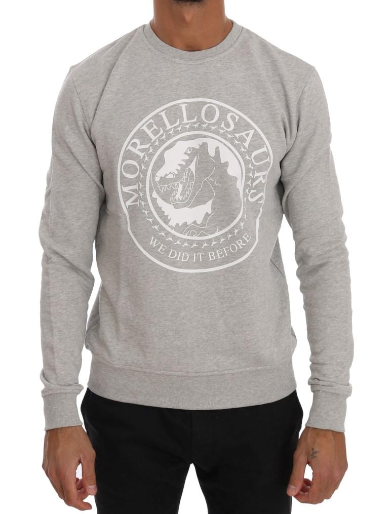 Frankie Morello Men's Crew Neck Sweater Grey TSH1291 - L