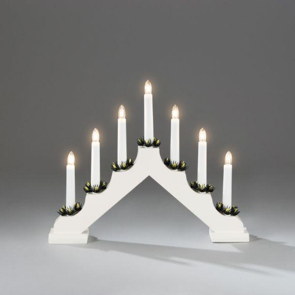 Konstsmide 2262-210 Elektrisk lysestake 7 lys hvit