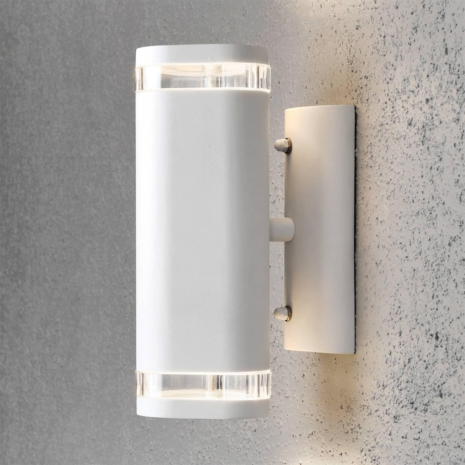 Utendørs vegglampe Modena 2 lyskilder hvit