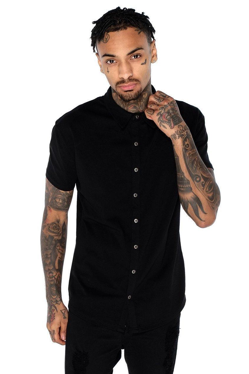 Superstretch Jersey Men's Shirt - Black, Small