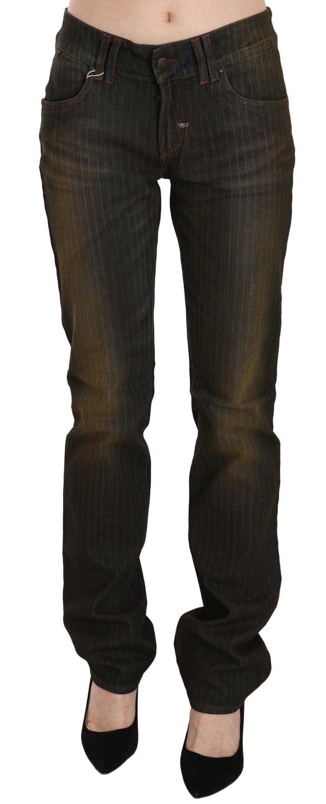 Just Cavalli Women's Low Waist Slim Fit Denim Trouser Black PAN70327 - W29