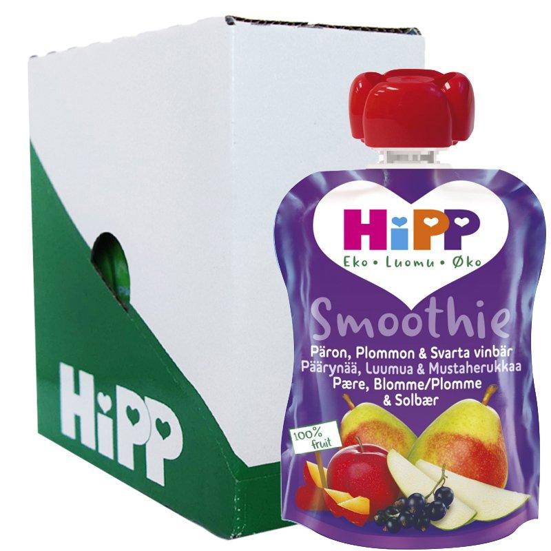 Laatikollinen lastenruokaa, päärynä, luumu ja mustaviinimarja, 6x90 g - 26% alennus