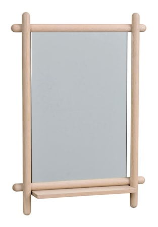 Milford Spegel med hylla Vitpigmenterad Ek 52x74 cm