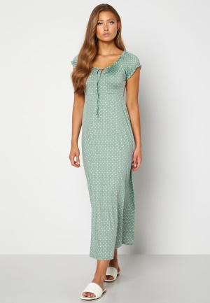 Happy Holly Tessie maxi dress Light mint / Offwhite 40/42L