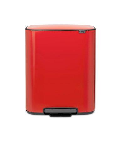 Bo Søppelbøtte med Pedal og 2 innerbøtter av plast Rød 2x30 L