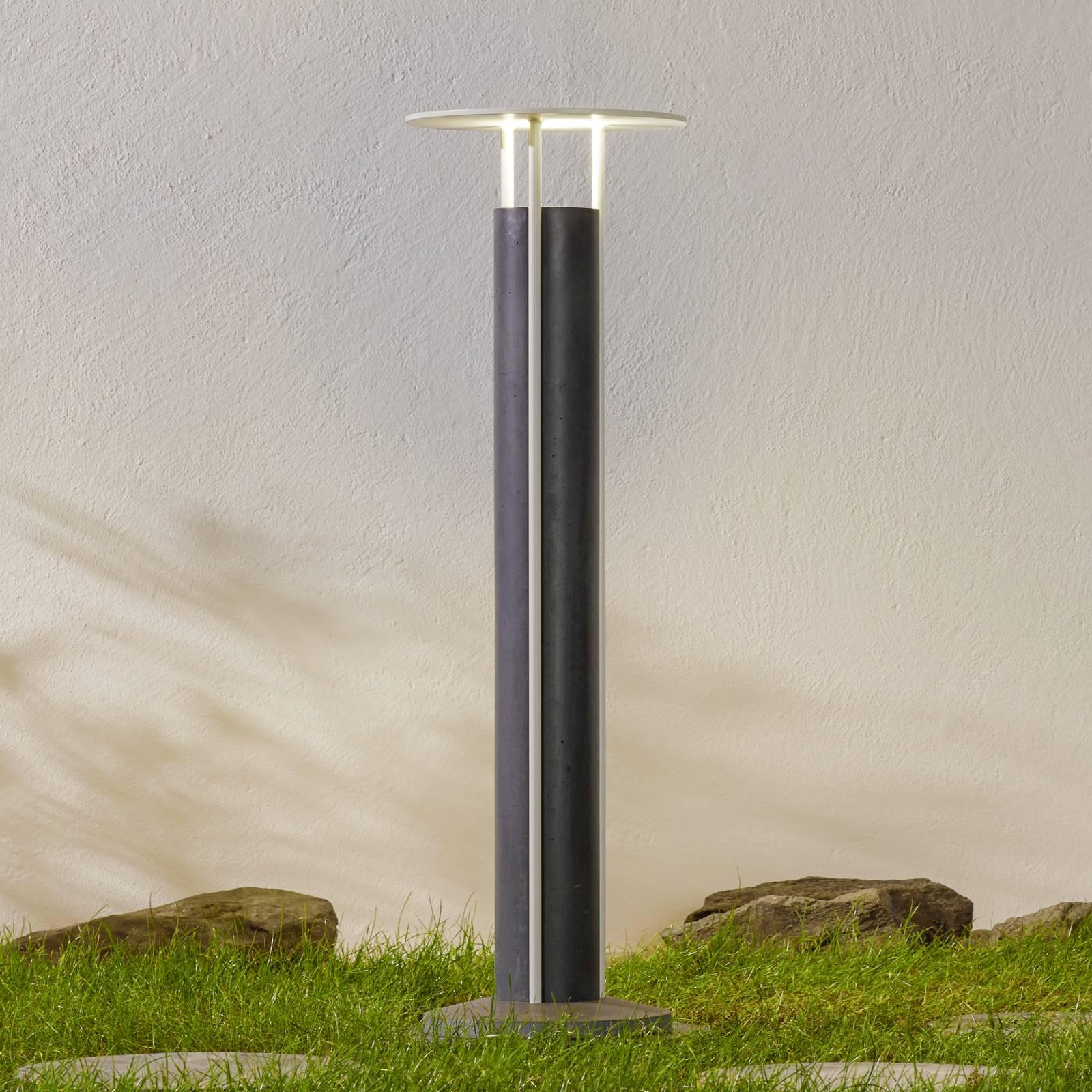 Pylväslamppu Ercole, DesignStudio Formidable musta