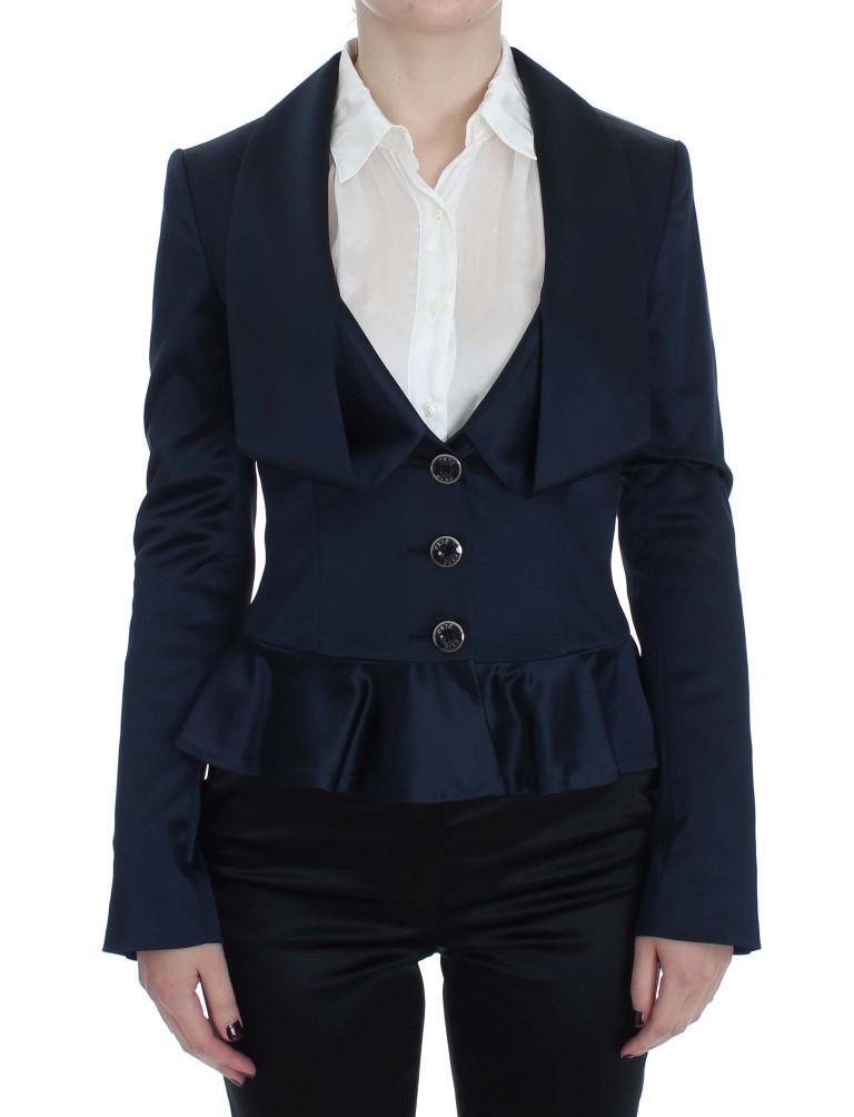 Exte Women's Three Button Single Breasted Blazer Blue SIG30860 - IT46 | L