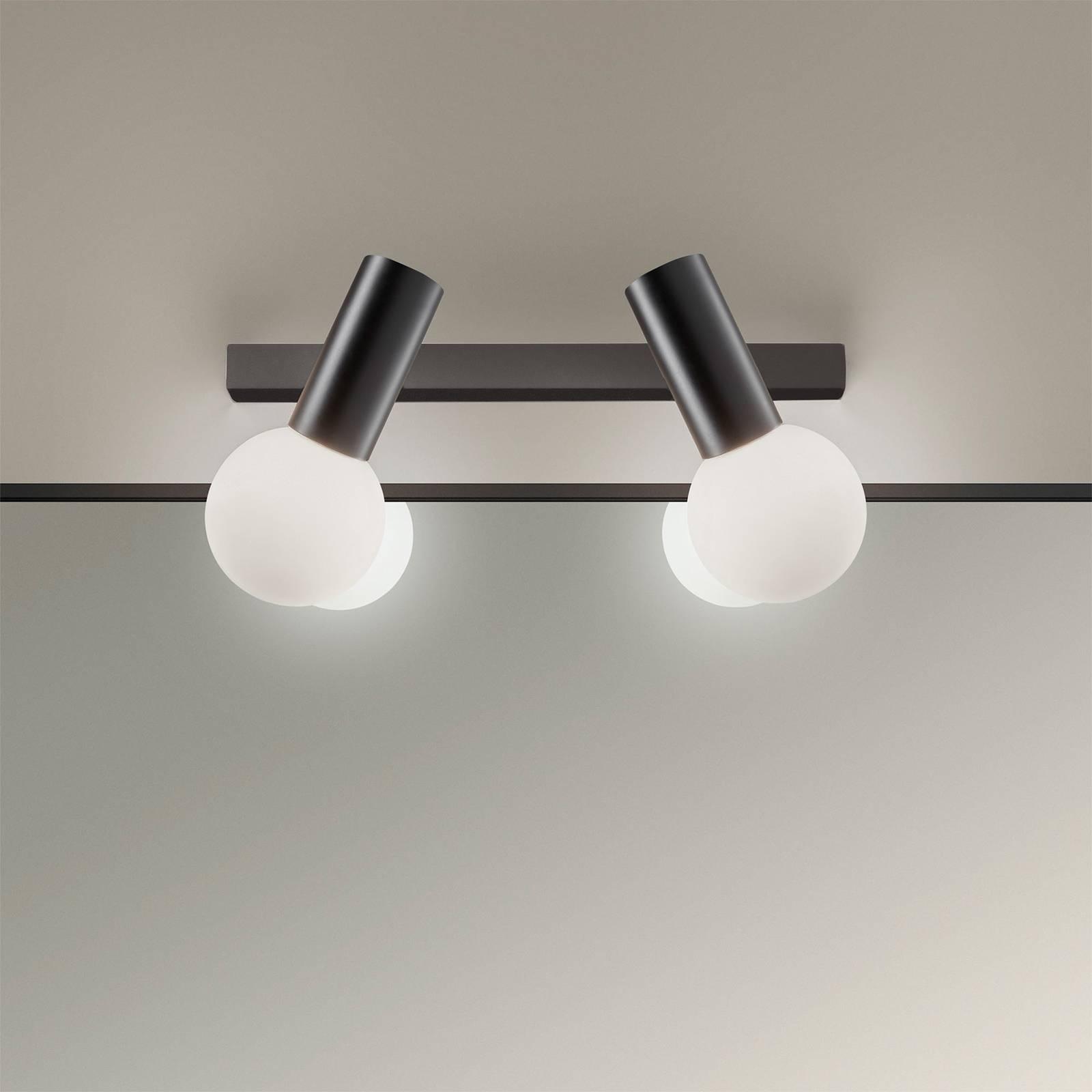 LEDS-C4 Mist -kylpyhuoneen seinälamppu, musta