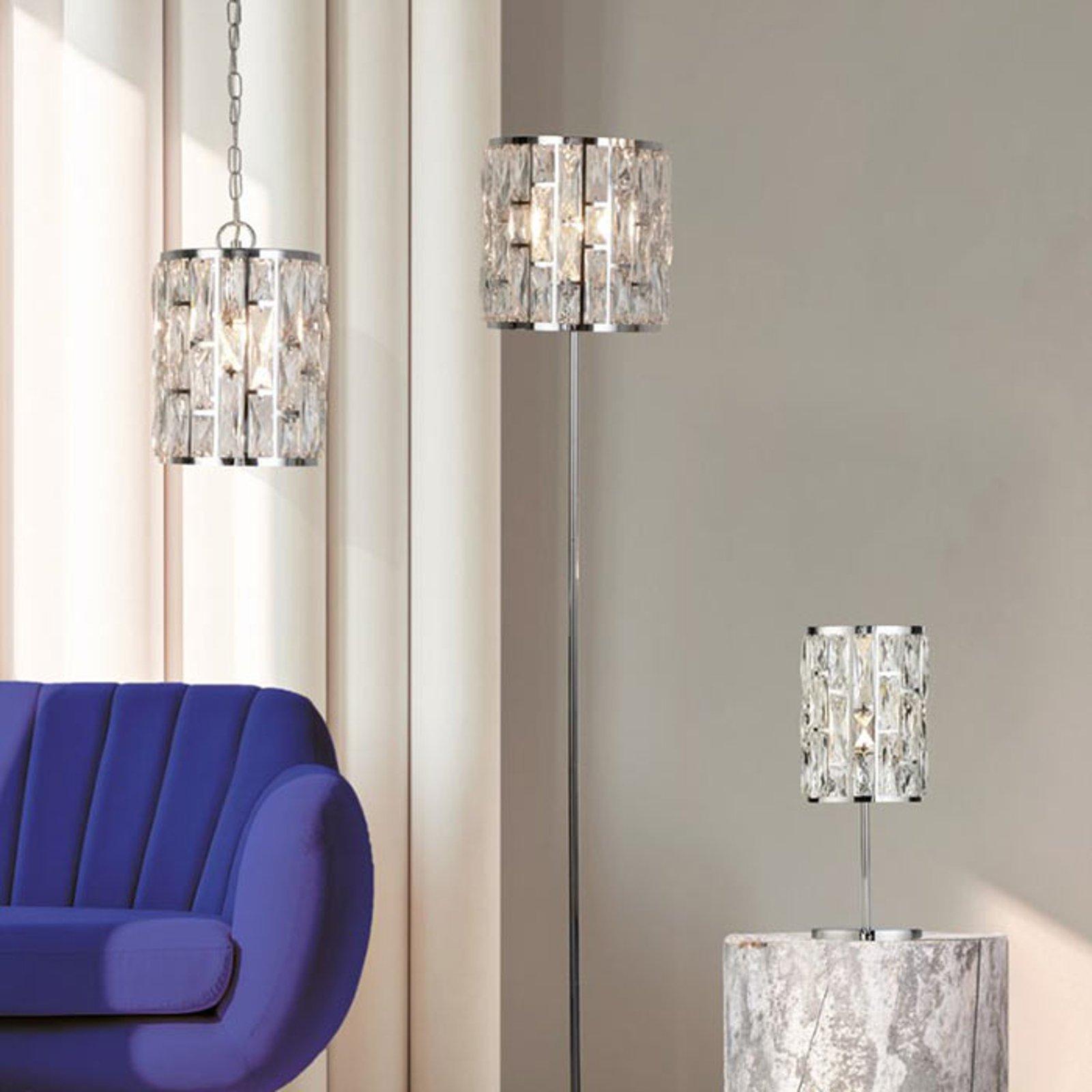 Bordlampe Bijou med krystaller