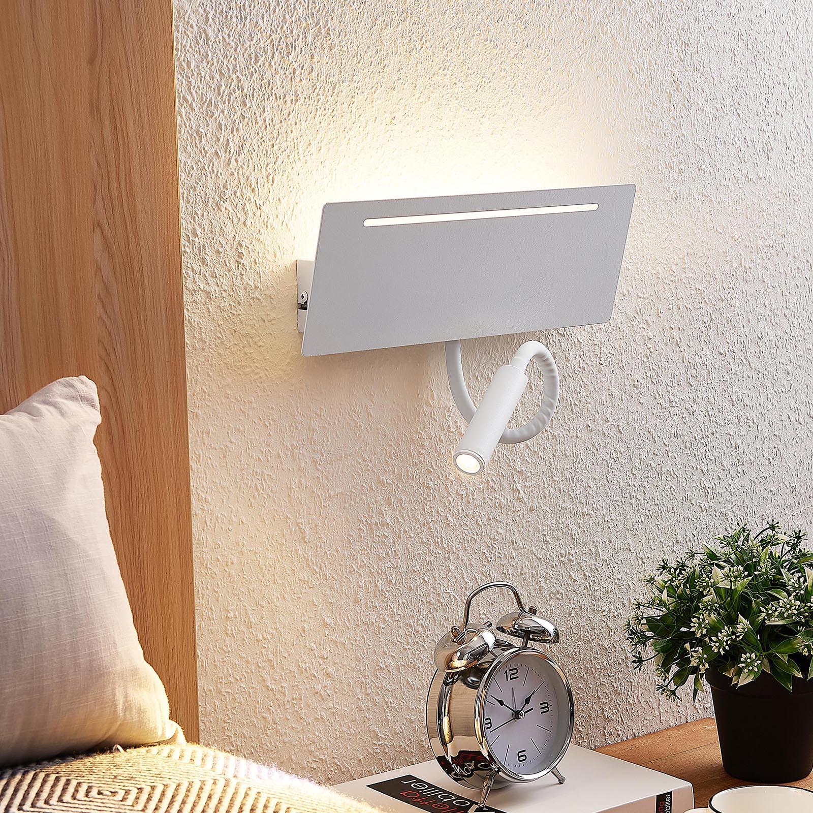 Arcchio Poyras -LED-seinävalaisin lukuvalolla